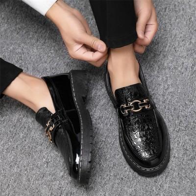 メンズ ビジネスシューズ ローファー 紳士靴 モカシン 革靴 スリッポン 通勤 オシャレ 男子靴