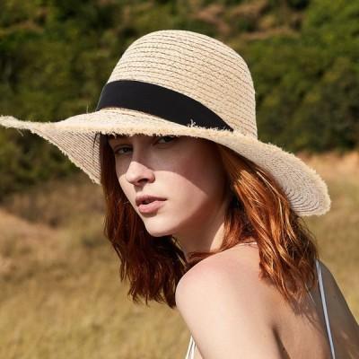 帽子 レディース 夏 uv 折りたたみ で持ち運べる 麦わら 紫外線 対策 UVカット