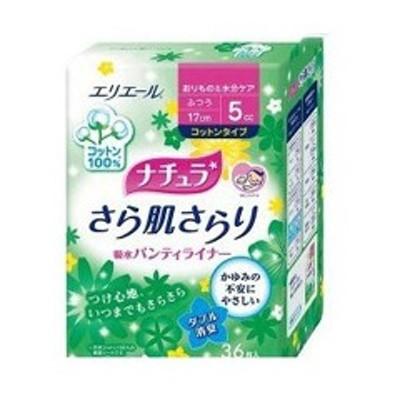 大王製紙 DAIO PAPER ナチュラ さら肌さらり 吸水パンティライナー コットンタイプ 36枚 日用品・生活雑貨