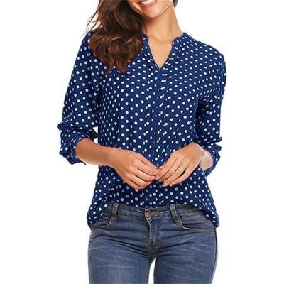 レディース tシャツ Vネック メッシュ パネル 3/4袖 ベルスリーブ トップス 七分袖 ブラウス 無地 人気 夏服 快適な 軽い 柔らかい かっこ