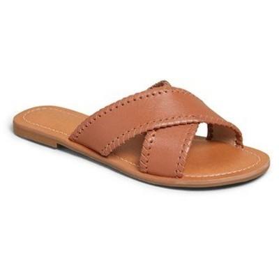 ジャックロジャース サンダル シューズ レディース Sloan Slide Sandal Mocha Leather