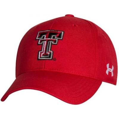 アンダーアーマー Under Armour メンズ キャップ 帽子 Texas Tech Red Raiders Red Adjustable Hat