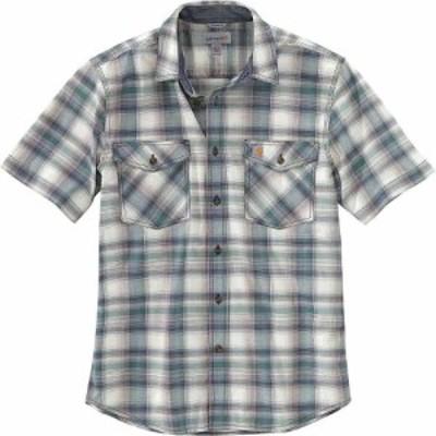 カーハート Carhartt メンズ 半袖シャツ トップス Rugged Flex Relaxed-Fit Lightweight SS Button-Front Plaid Shirt Musk Green
