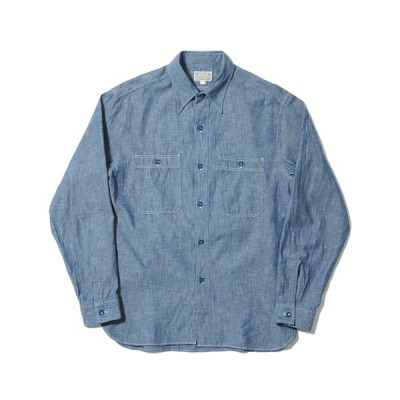BUZZ RICKSON'S バズリクソンズ BLUE CHAMBRAY WORK SHIRTS ブルー シャンブレー ワークシャツ インディゴ BR25995