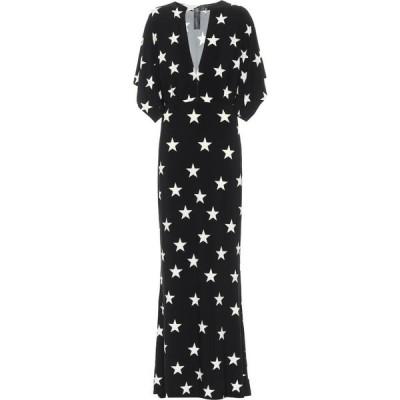 ノーマ カマリ Norma Kamali レディース パーティードレス マキシ丈 ワンピース・ドレス star-print stretch-jersey maxi dress Star
