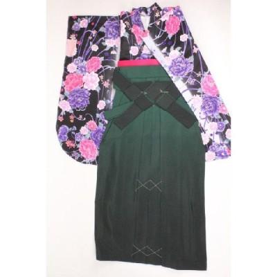 卒業式 二尺袖 着物(TLサイズ) 袴 長襦袢 袴下帯 重ね衿 5点セット 14HD-5TL
