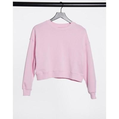 プルアンドベアー レディース シャツ トップス Pull&Bear sweatshirt in pink