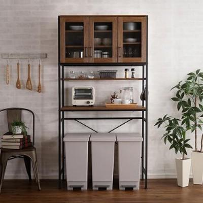 食器棚 レンジ台 炊飯器置き台 おしゃれ 安い キッチン 収納 棚 ラック 大容量 カップボード ダイニングボード オープン  西海岸 アジア