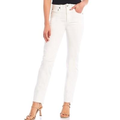 ジアーニビニ レディース デニムパンツ ボトムス Riley Ankle Straight Jeans White