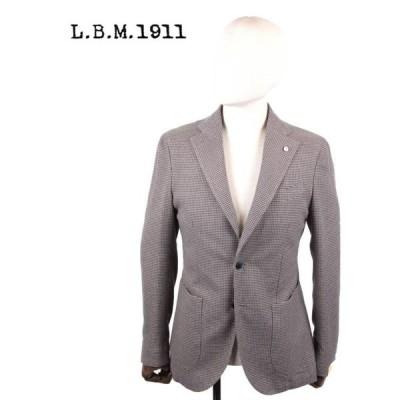 L.B.M.1911 エルビーエム1911 2Bシングルテーラードジャケット 千鳥柄 9201A29865077 ブラウン 茶系 国内正規品