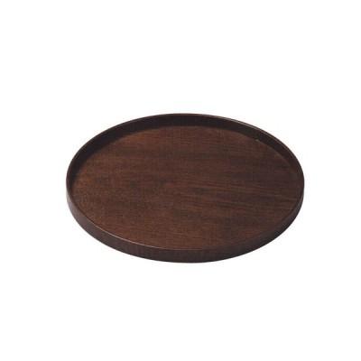 かのりゅう 木製 9寸丸盆 JA17-9-11s(台所用品)