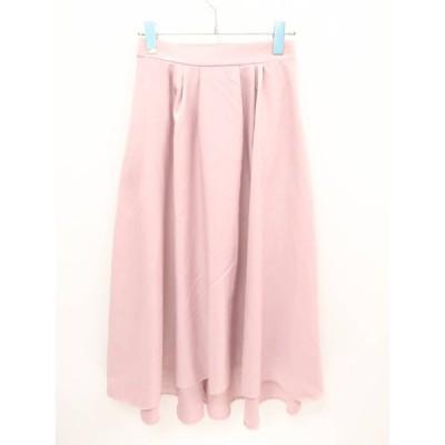 Newlyme(ニューリーミー)ポケット付ロングフィッシュテールスカート ピンク レディース A-ランク M [委託倉庫から出荷]