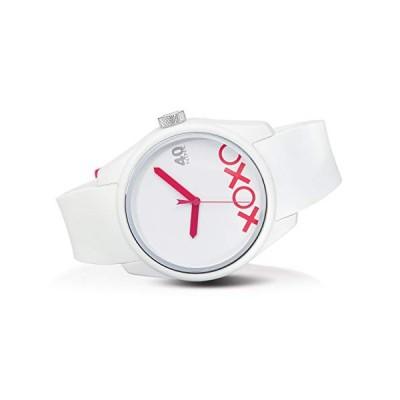 40N5.3MW 40Nine 43mm XOXO Love Watch, White Strap 並行輸入品