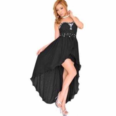 キャバドレス ドレスキャバ セクシー ロングドレス パーティードレス【再入荷】 送料無料 ビジューラウンドカットロングドレス