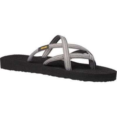 テバ Teva レディース サンダル・ミュール シューズ・靴 Olowahu Sandal Antiguous Grey Textile