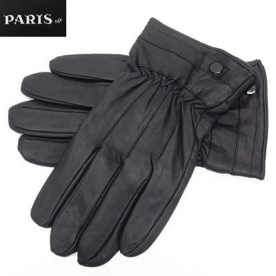 手袋 PARIS16e 羊革/シープスキン 黒 メンズ グローブ メール便可 LAM-N06-BK