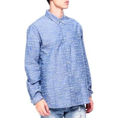 ハフ HUF メンズ シャツ シャンブレーシャツ トップス bdr chambray shirt Indigo