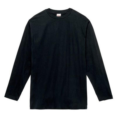 キッズ ジュニア 子供服 Tシャツ 長袖 ヘビーウェイト 5.6オンス 無地 ブラック 130cm サイズ 102-CVL