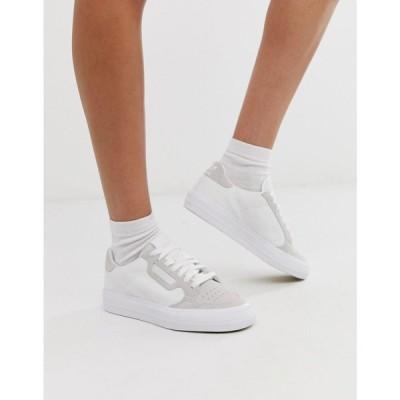 アディダス adidas Originals レディース スニーカー シューズ・靴 Continental 80 Vulc trainers in white ホワイト