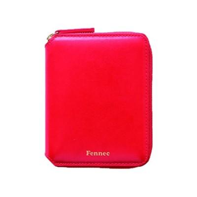 Fennec Zipper Wallet 2 フェネック 二つ折り財布 本革レザー 【Fennec Official】 (レッド)