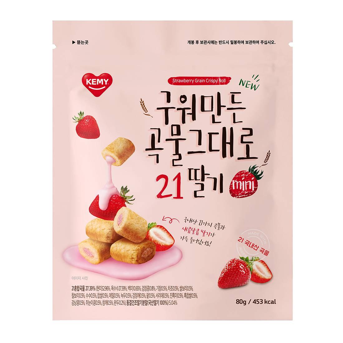 韓國KEMY多種穀物MINI夾心酥-草莓