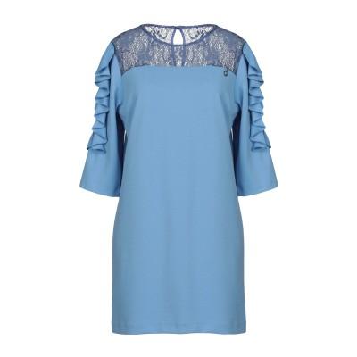 レリッシュ RELISH ミニワンピース&ドレス アジュールブルー XS 100% ポリエステル ミニワンピース&ドレス