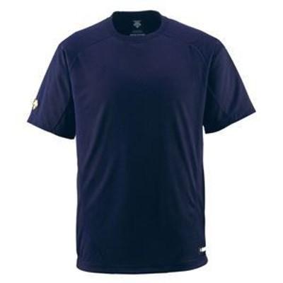 ds-1047649 デサント(DESCENTE) ジュニアベースボールシャツ(Tネック) (野球) JDB200 Dネイビー 160 (ds1047649)