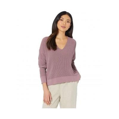 Eileen Fisher アイリーンフィッシャー レディース 女性用 ファッション セーター Organic Cotton Cord V-Neck Box-Top - Mauve