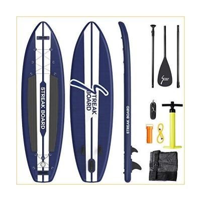 インフレータブル スタンドアップパドルボード  streakboard Inflatable Stand Up Paddle Board 11'×32''×6'', Premium Light