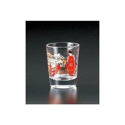 ショットグラス グラス 舞妓 金閣寺 ガラス製 ミニグラス カップ