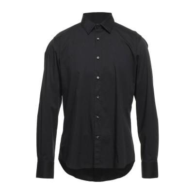 アレッサンドロデラクア ALESSANDRO DELL'ACQUA シャツ ブラック 41 コットン 72% / ナイロン 25% / ポリウレタン