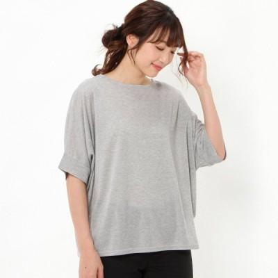 Tシャツ カットソー プルオーバー レディース ドルマンシルエットプルオーバー 「グレー」