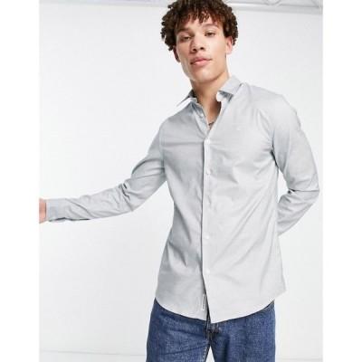カルバンクライン Calvin Klein Jeans メンズ シャツ トップス non washed dot dobby shirt グリーン