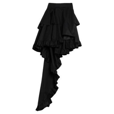 FAUSTO PUGLISI ミニスカート  レディースファッション  ボトムス  スカート  ロング、マキシ丈スカート ブラック