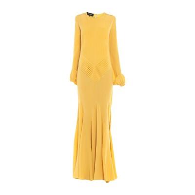 ロシャス ROCHAS ロングワンピース&ドレス オークル 42 シルク 100% ロングワンピース&ドレス