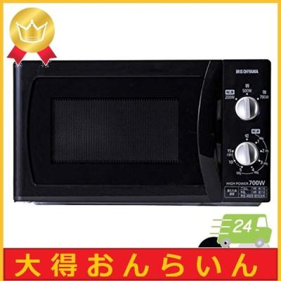 アイリスオーヤマ 電子レンジ 18L フラットテーブル 60Hz/西日本 ブラック PMB-F185-6