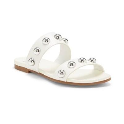 アイエヌシーインターナショナルコンセプト レディース サンダル シューズ INC Women's Galli Ball-Stud Slide Sandals,  White