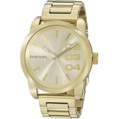 ディーゼル Diesel Mens 46mm Gold Steel Bracelet  Case Mineral Glass Quartz Watch dz1466 逆輸入モデル 送料無