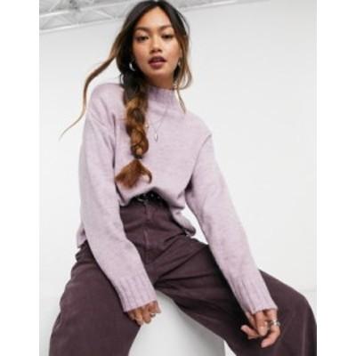 ニュールック レディース ニット・セーター アウター New Look high neck sweater in lilac Lilac