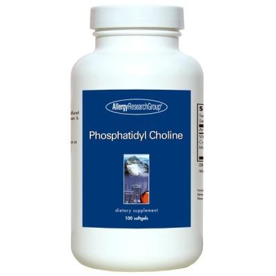 アレルギーリサーチグループ ホスファチジル コリン 大豆レシチン100 ソフトジェル / Allergy Research Phosphatidyl Choline 385mg, 100 Softgels