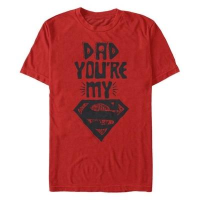 フィフスサン メンズ Tシャツ トップス DC Men's Dad You're My Superman Short Sleeve T-Shirt