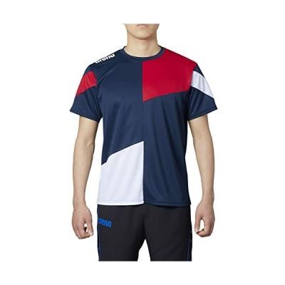 アリーナ (arena) Tシャツ チームウェア メンズ Dネイビー×ホワイト×レッド SSサイズ ARN-0333