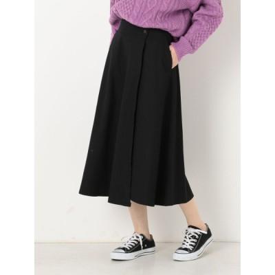 archives (アルシーヴ) レディース 綿ツイル巻きスカート ブラック M