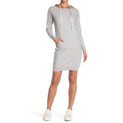 スティッチドロップ レディース ワンピース トップス Colorblock Hooded Sweatshirt Dress COUCH POTATO