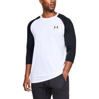 アンダーアーマー Under Armour メンズ Tシャツ ラグラン トップス Sportstyle Raglan T-Shirt White