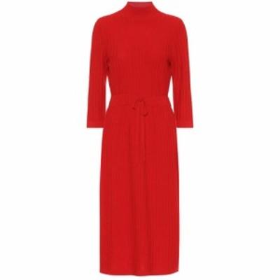 アーペーセー A.P.C. レディース ワンピース ワンピース・ドレス Vivianne merino wool midi dress Rouge