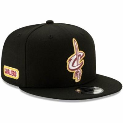 """ニューエラ メンズ キャップ NBA """"Cleveland Cavaliers"""" New Era Official Back Half 9FIFTY Snapback Hat 帽子 Black"""