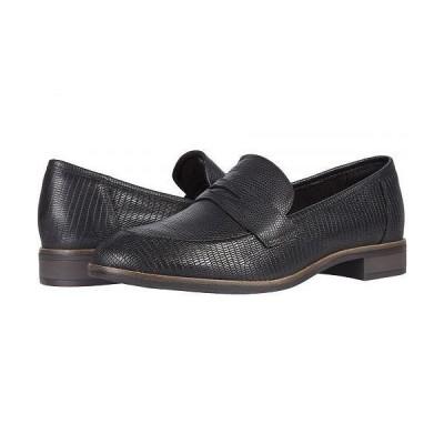 Clarks クラークス レディース 女性用 シューズ 靴 ローファー ボートシューズ Trish Rose - Black Lizard Print Leather