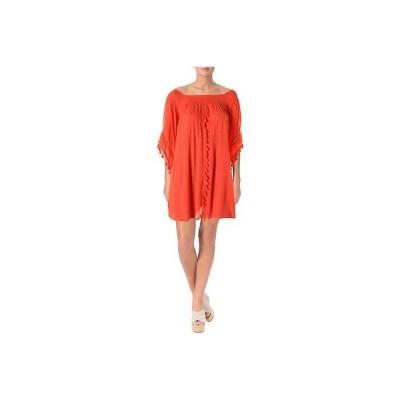 ドレス 女性  アクア アクア 9966 レディース ピンク Lined Tassels ミニ カジュアル ドレス S