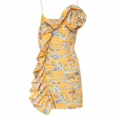 マグダ ブトリム Magda Butrym レディース ワンピース ワンピース・ドレス asymmetric silk minidress Yellow